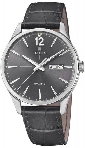 Zegarek męski Festina retro F20205-2 - duże 1