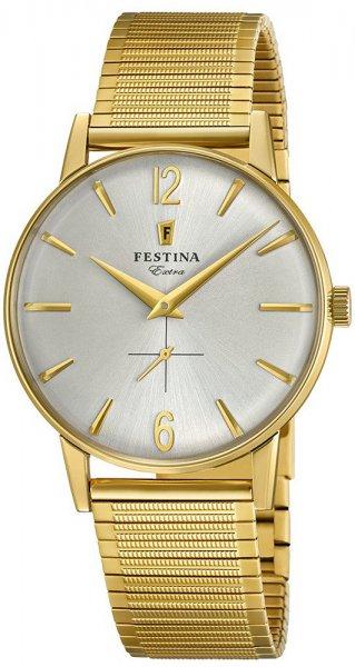 Elegancki zegarek dla dziadka na rozciąganej bransolecie - Festina F20251-2