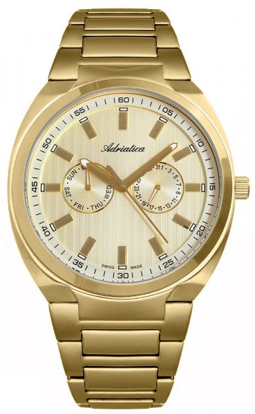 Zegarek męski Adriatica bransoleta A1105.1111QF - duże 1