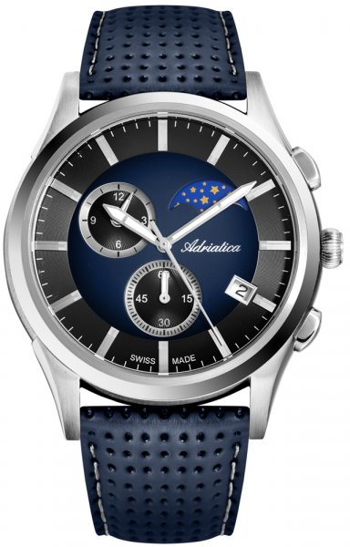 Adriatica A8282.5215CH Pasek Moonphase Chronograph