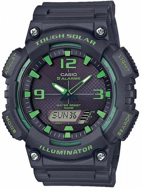 Zegarek męski Casio analogowo - cyfrowe AQ-S810W-8A3VEF - duże 1