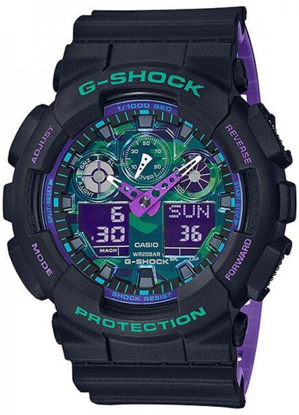 Zegarek Casio G-SHOCK GA-100BL-1AER - duże 1