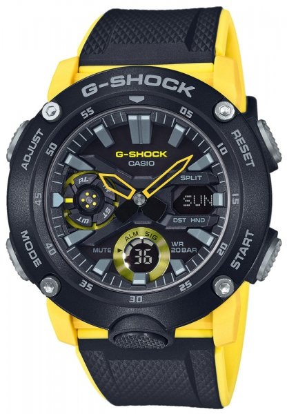 Zegarek męski Casio G-SHOCK g-shock GA-2000-1A9ER - duże 1