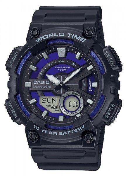 AEQ-110W-2A2VEF - zegarek męski - duże 3