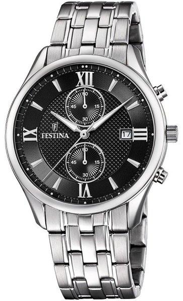 Zegarek Festina Timeless Chronograph - męski  - duże 3