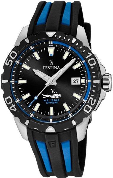 Zegarek Festina The Originals Diver 200m - męski  - duże 3