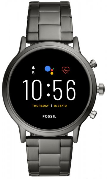 Fossil Smartwatch FTW4024 Fossil Q GEN 5 SMARTWATCH - THE CARLYLE HR SMOKE STAINLESS STEEL