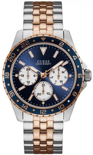 Zegarek męski Guess bransoleta W1107G3 - duże 3
