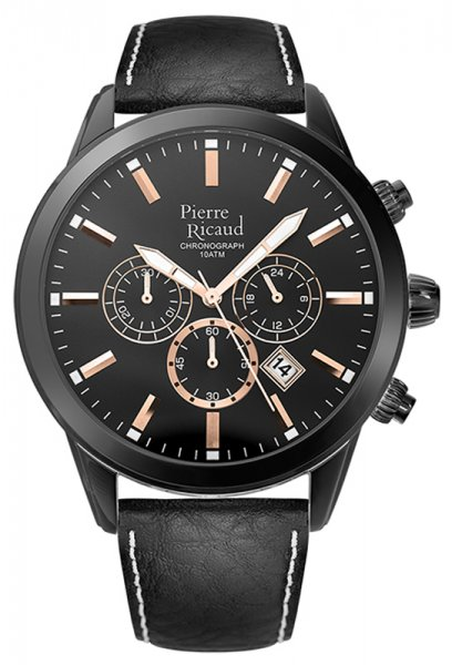 Zegarek męski Pierre Ricaud pasek P97010.B2R4CH - duże 3