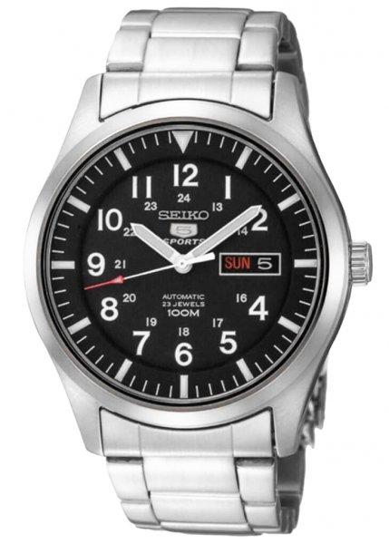 Zegarek męski Seiko automatic SNZG13K1 - duże 3