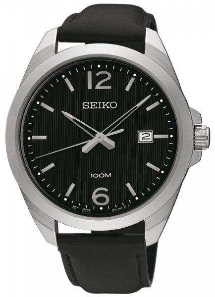 Zegarek męski Seiko classic SUR215P1 - duże 3