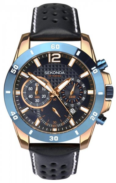 Zegarek męski Sekonda chronograph SEK.1489 - duże 1