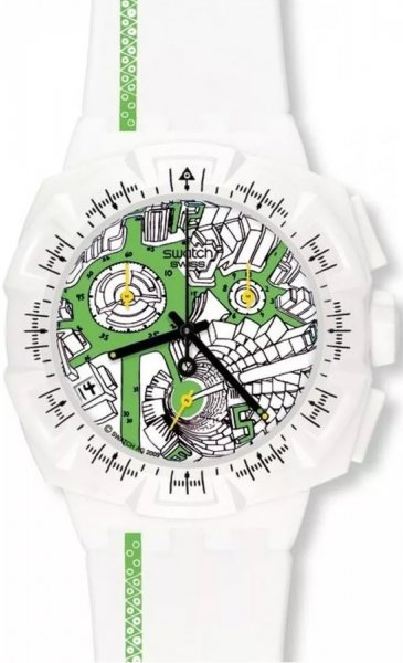 Swatch SUIW409 Originals Chrono STREET MAP GREEN