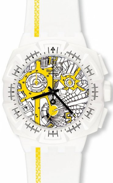Swatch SUIW410 Originals Chrono STREET MAP YELLOW