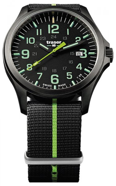 Traser TS-107426 P67 Officer Pro P67 Officer Pro GunMetal Black/Lime