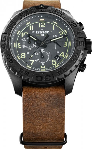 Traser TS-109045 P96 Outdoor Pioneer P96 OdP Evolution Chrono Grey