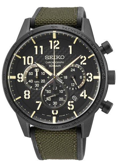 Zegarek męski Seiko chronograph SSB369P1 - duże 1