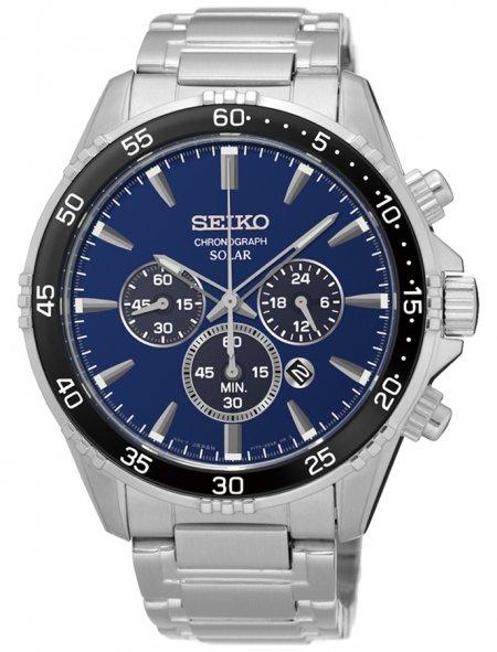 Zegarek męski Seiko chronograph SSC445P1 - duże 3