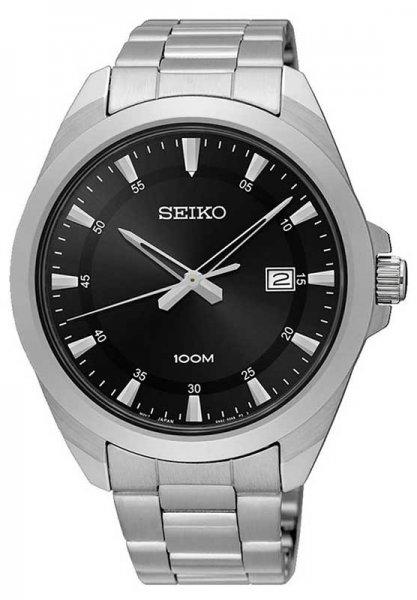 Zegarek męski Seiko classic SUR209P1 - duże 3