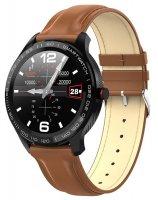 5903246287004 Garett Smartwatch Garett Men 3S RT brązowy skórzany - duże 1