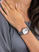 Zegarek damski Anne Klein bransoleta AK-3324GYLE - duże 3