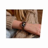 kwarcowy Zegarek damski Garett Damskie Smartwatch Garett Women Nicole RT różowy stalowy 5903246287189 - duże 6