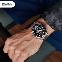 srebrny Zegarek Lorus Sportowe RM333FX9 - duże 6