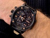 Zegarek czarny fashion/modowy Diesel Boltdown DZ7428 pasek - duże 4