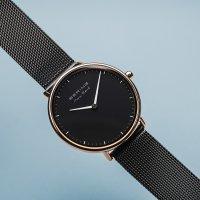 Zegarek czarny klasyczny Bering Max Rene 15730-162 bransoleta - duże 3