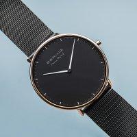 Zegarek czarny klasyczny Bering Max Rene 15738-162 bransoleta - duże 3