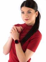 Zegarek czerwony fashion/modowy Michael Kors Access Smartwatch MKT5073 pasek - duże 2