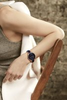 Zegarek damski Anne Klein bransoleta AK-3160BKGB - duże 3