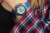Zegarek damski Casio klasyczne LWS-1100H-2AVEF - duże 2