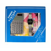 Zegarek damski Casio vintage ZESTAW-19-CV-GIFT-SET-SILVER - duże 1