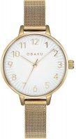 Zegarek damski Obaku Denmark bransoleta V237LXGIMG - duże 1
