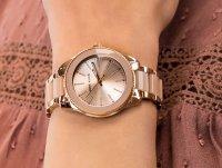 Zegarek fashion/modowy Anne Klein Bransoleta AK-3214LPRG - duże 4