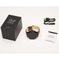 Zegarek Garett 5903246287004 Smartwatch Garett Men 3S RT brązowy skórzany - duże 4