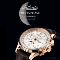 Zegarek męski Atlantic worldmaster 55851.44.25 - duże 2