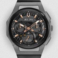 Zegarek męski Bulova curv 98A162 - duże 4
