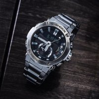 Zegarek męski Casio G-SHOCK g-shock g-steel GST-B200D-1AER - duże 2