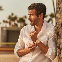 Zegarek męski Guess bransoleta W0799G2 - duże 6