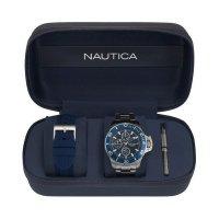 Zegarek męski Nautica bransoleta NAPBYS006 - duże 2