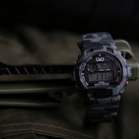 Zegarek męski QQ męskie M153-009 - duże 2