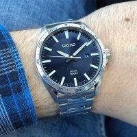 Zegarek męski Seiko solar SNE483P1 - duże 2