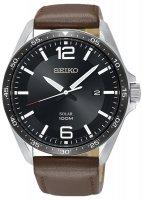 Zegarek męski Seiko solar SNE487P1 - duże 1