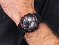 Zegarek męski sportowy Casio G-SHOCK Original GA-100-1A4ER Red Giant  szkło mineralne - duże 4