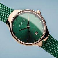 Zegarek różowe złoto fashion/modowy Bering Classic 13326-868 bransoleta - duże 3