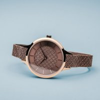 Zegarek różowe złoto klasyczny Bering Classic 17831-265 bransoleta - duże 4