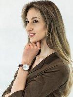 Zegarek różowe złoto klasyczny Timex Waterbury TW2R72500 pasek - duże 2