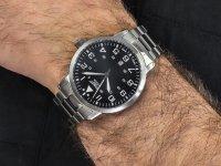 Zegarek srebrny klasyczny Aviator Vintage Family V.1.11.0.036.5 bransoleta - duże 4